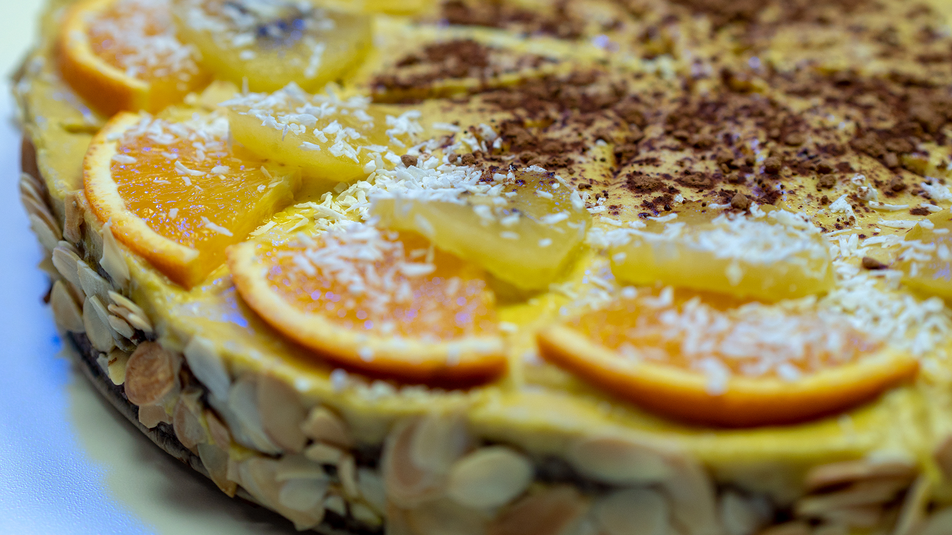 Banane-Orangen-Rohkost-Kuchen